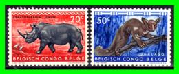 REPUBLIQUE DU CONGO SELLOS ANIMALES - Congo Belge
