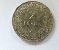 2 Frank 1911 Nl  Argent / Silver - 1909-1934: Albert I