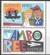 2007 Schweden   Mi. 2573-4 **MNH EUROPA  Pfadfinder - Europa-CEPT