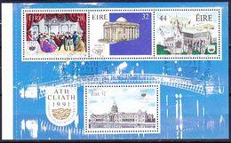 Irland Ireland Irlande - Dublin- Kulturhauptstadt (MiNr: MHB 24+25) 1991 - Gest Used Obl - European Ideas