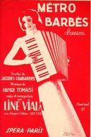"""1939 - """" METRO BARBES """" DE CHABANNES / TOMASI PAR LINE VIALA -TRES BELLE ILLUSTRATION DE PAUL COLIN - TB ETAT - - Musik & Instrumente"""