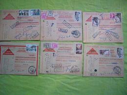Lot De 6 Cartes Lettres Contre Remboursement Taxées Beaux Affranchissements Années 56/57/58 - Strafportbrieven