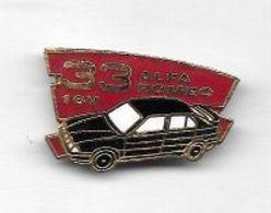 Pin's  Automobile  ALFA  ROMEO  33  Noire  16 V - Alfa Romeo