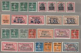 MEMEL KLAIPĖDA Big Lot Mint/Used (*/o) Stamps 4 Scans #21842 - Sellos