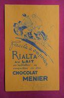 Buvard Chocolat MENIER, Moto, Signé Géo Ham - Tweewielers