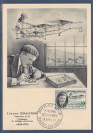 Etienne Oehmichen Inventeur De L'hélicoptère Carte 1er Jour N°1098 Chalons Sur Marne 13 Avril 57 - Cartoline Maximum