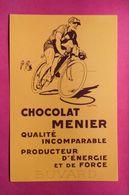 Buvard Chocolat MENIER, Cycliste, Signé Géo Ham - Tweewielers