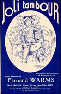 """1936 - """" JOLI TAMBOUR """" VIEILLE CHANSON PAR FERNAND WARMS -TRES BELLE ILLUSTRATION E.COCARD - EXC ETAT PROCHE DU NEUF - - Musique & Instruments"""