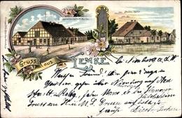 Lithographie Lemke Marklohe In Niedersachsen, Gastwirtschaft H. Müller, Denkers Mühle - Allemagne