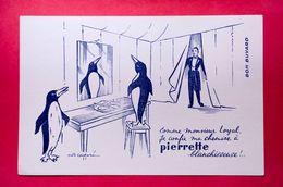 Buvard PIERRETTE Blanchisseuse, Signé Cadoré, Pingouin - Papel Secante
