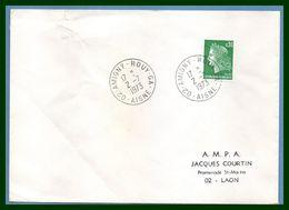 Amigny Rouy GA (Aisne 02 ) Type A 9 Annexe 1973 / N° Cheffer (pli) - Matasellos Manuales