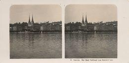 Stereo, Suisse, Luzern, Quai National, No.18, Steglitz - Visionneuses Stéréoscopiques