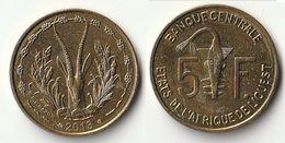 Pièce De 5 Francs CFA XOF 2013 Origine Côte D'Ivoire Afrique De L'Ouest - Côte-d'Ivoire