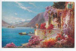 ITALIAN LAKES AND GARDENS - Artist A. De Breanski - Tuck Oilette De Luxe 3809 - Autres Illustrateurs