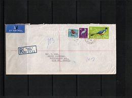 Uganda 1965 Interesting Airmail Registered Letter - Ouganda (1962-...)