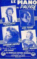 """1954 - """" LE PIANO DU PAUVRE """" DE ET PAR LEO FERRE / PATACHOU /SAUVAGE / MANIA  - EXC ETAT PROCHE DU NEUF - - Musique & Instruments"""
