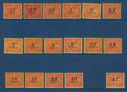 """Indochine Taxe YT 57 à 74 """" Série Complète Sans Le 73 """" 1931-41 Neuf** - Postage Due"""