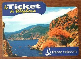20 CORSE TICKET FRANCE TELECOM TICKET TÉLÉPHONE 10 MN EXP 01/03/2004 CARTE TÉLÉPHONIQUE PREPAYÉE PREPAID RARE - Frankreich