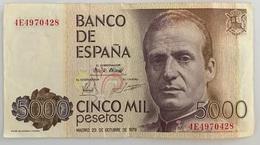 1 BILLET ESPANA . 5000 PESETAS J. CARLOS 23 OCTOBRE 1979 - [ 4] 1975-…: Juan Carlos I.