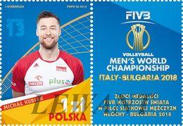 2018.12.28. Gold Medalists Of The FIVB Men's Volleyball Men's Italy - Bulgaria 2018 1v + Label - MNH - Ongebruikt