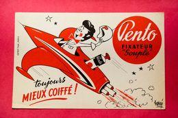 Buvard Coiffure PENTO, Fusée, Signé Hervé - Perfume & Beauty