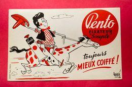 Buvard Coiffure PENTO, Cow-Boy, Signé Hervé - Parfum & Cosmetica
