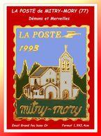 """SUPER PIN'S POSTE : LA POSTE De """"Mitry-Mory"""" Seine-et-Marne, Région Île-de-France DEMONS Et MERVEILLES Email Grand Feu - Postes"""