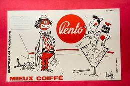 Buvard Coiffure PENTO, Cirque, Clown, Signé Hervé, Tampon Commercy Meuse - Perfume & Beauty