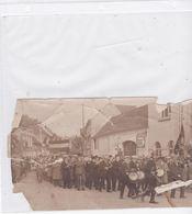 FOTO  INHULDIGING BRUG GAVERE ST CECILAAN FANFARE 1932  FOTO  BESCHADIGD - Gavere