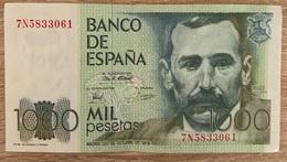 1 BILLET ESPANA . 1000 PESETAS: BENITO PEREZ GALDOS 23 OCTOBRE 1979 - Spanien
