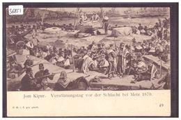 JOM KIPUR - VERSÖHNUNGSTAG VOR DER SCHLACHT BEI METZ 1870  - SCENE OF JEWISH LIFE  BY HERMANN JUNKER - TB - Judaisme