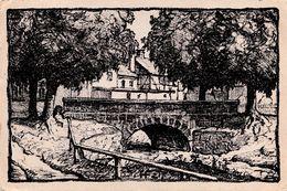 AALEN : KOCHERBRÜCKE - ORIGINAL STEINZEICHNUNG Von H. FACH / LITHOGRAPHIE ORIGINALE - ANNÉE / YEAR : 1921 (af004) - Aalen