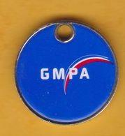 Jeton De Caddie En Métal - GMPA - L'Action Sociale - Mutuelle Militaire - Jetons De Caddies