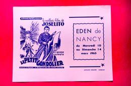 Buvard CINÉMA Le Petit GONDOLIER, Film De Joselito, Eden De Nancy, Italie, Venise, Rose - Papel Secante