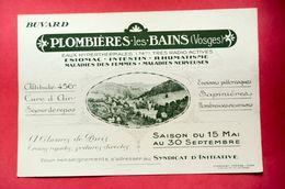 Buvard PLOMBIÈRES-les-BAINS, Centre Thermale, Vosges - Papel Secante