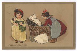 Fritz Baumgarten Puppenmütterchen M&B Künstler-Postkarten Serie 1942 Bei Puppe Und Spielzeug Gel. 1914 - Baumgarten, F.