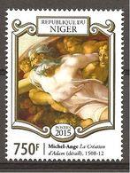 NIGER - 2015 540° MICHELANGELO Particolare Della Creazione D'Adamo  Nuovo** MNH - Religious