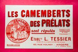 Buvard CAMEMBERTS Des PRÉLATS, Éts TESSIER à Angers - Produits Laitiers