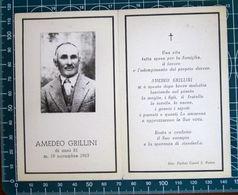 Necrologio Luttino - AMEDEO GRILLINI ( Morte 1963) - Foto Ferlini Castel S. Pietro - Obituary Notices