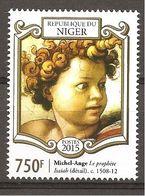 NIGER - 2015 540° MICHELANGELO Putto Particolare Del Profeta Isaia  Nuovo** MNH - Religious
