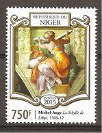 NIGER - 2015 540° MICHELANGELO Sibilla Di Libia  Nuovo** MNH - Religious