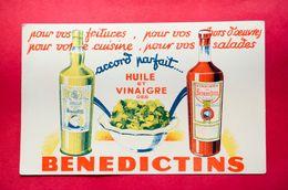 Buvard Huile Et Vinaigre Des BÉNÉDICTINS - Alimentaire
