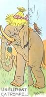 Bandes Dessinées - ROB-VEL Alias Bozz, Créateur De Spirou - Carte à Système Grand Format - Edition Photochrom - Elephant - Bandes Dessinées
