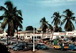 CPSM - DAHOMEY - COTONOU - Centre Commercial (voitures Citroën) - Dahomey