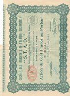 Action Au Porteur De 100 Francs S.T.A.O. SOCIETE DE TRANSPORTS DE L'AFRIQUE OCCIDENTALE - Acciones & Títulos