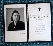 Necrologio Luttino - LIDIA GOLINELLI In DEMARIA (nascita 1917 Morte 1947) - Décès