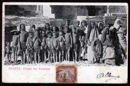 CPA ANCIENNES- AFRIQUE- ÉGYPTE- GROUPE DE NOUBIENS FEMMES ET ENFANTS GROS PLAN- - Egypt