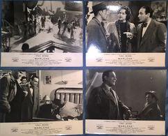 "Lot De 4 Photos De Promotions De Cinéma Du Film "" Marlène "" - Tino Rossi - C.C.F.C. - 23,5 X 29,5 Cm - Photos"