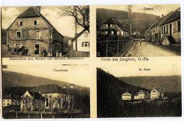 1971 - GRUSS Aus JUNGHOLZ(O.Els) (4 Vues) - Restaurant De Heinrich Hiltenbrand - CIRCULEE En 1915 - Frankreich