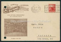 Padova Cartolina Pubblicitaria Farmacia Godina Al Duomo FG P519 - Padova (Padua)